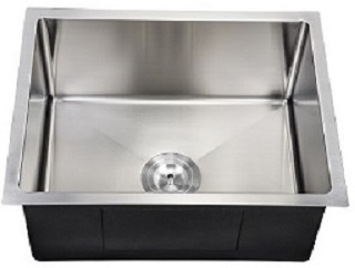 2318 Small radius, square sink